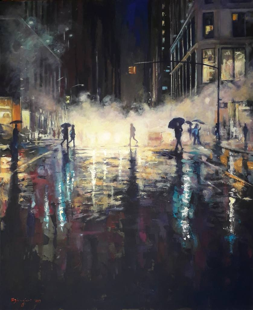 Emanuele Biagioni, American Smoke,Acrylic on Canvas, 47.5'' x 39.5'' image