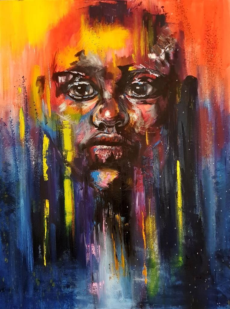 Lillian Gray,Siyabonga,Oil on Canvas, 47.5'' x 35.5'' image