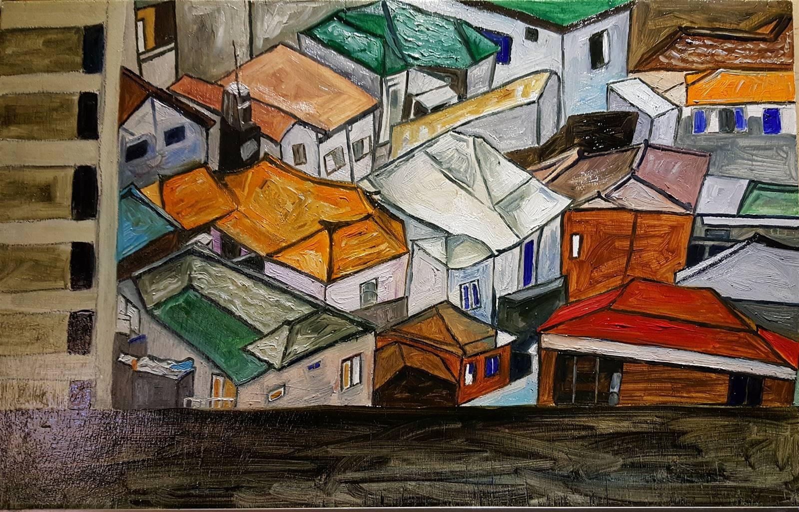 Seo,Samsundong,Oil on Panel, 13.5'' x 21'' image