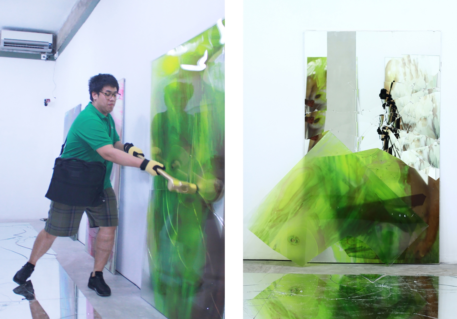 Erika Ernawan, performer responds to Mirror Sees You, 2011 image