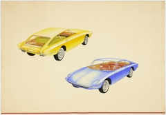Two seater open sports car, British Carriage and Automobile Manufactures Automobile Body Design Competition (rendering) image
