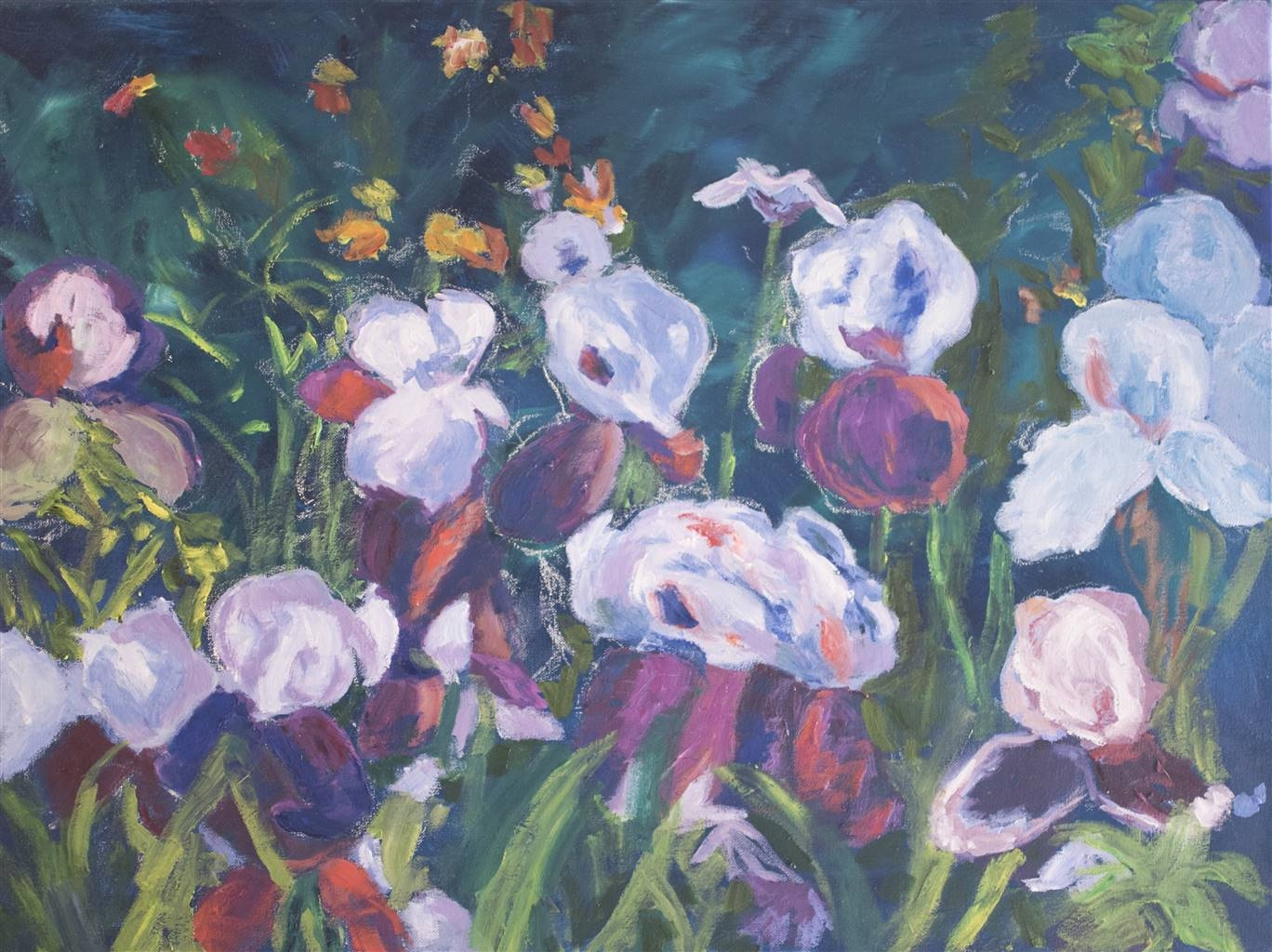 Margaret Adams, Iris Glade, Oil on Canvas, 18'' x 24'' image
