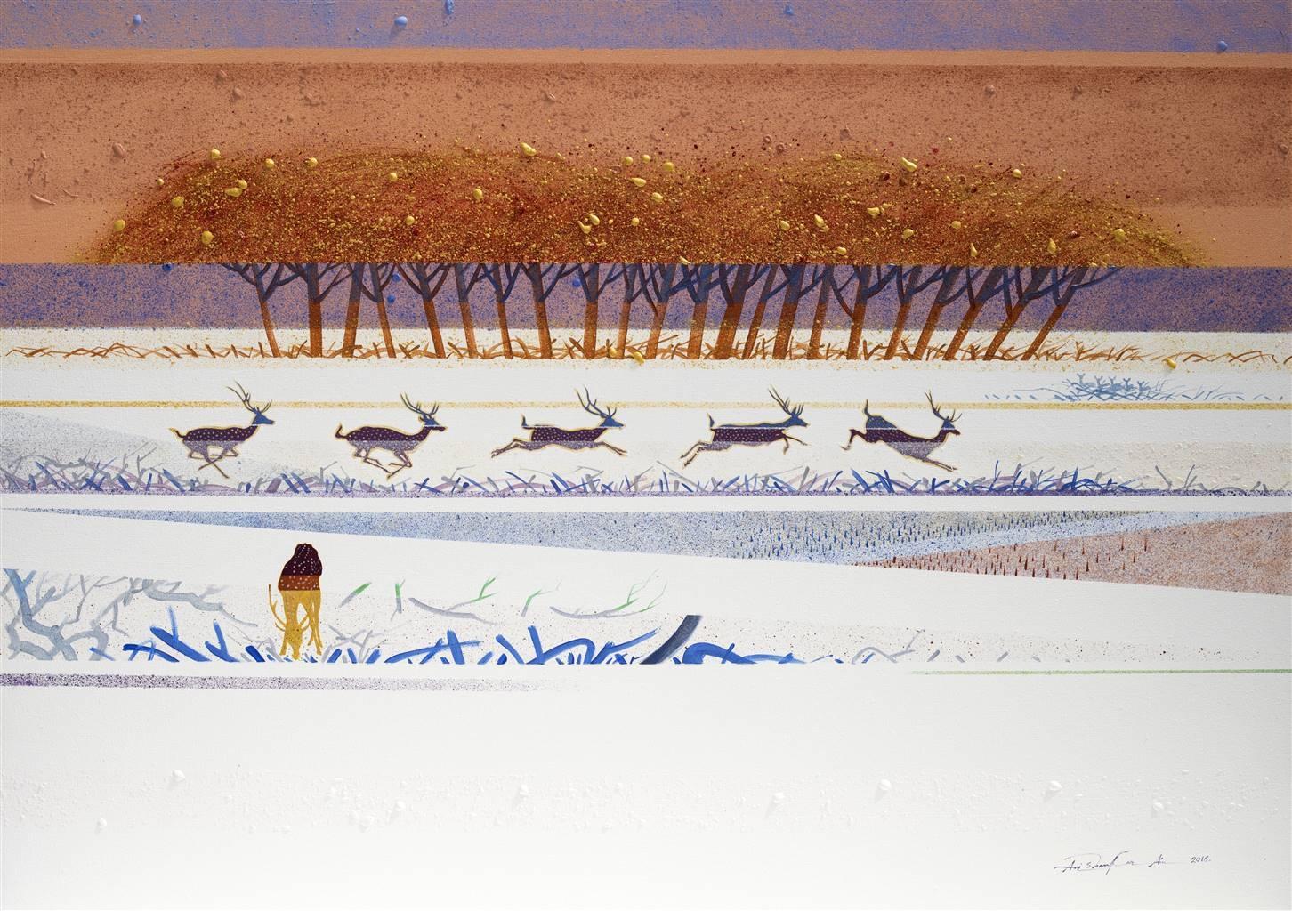 Avi Shankar Ain, Incertum, Acrylic on Canvas, 30'' x 42'' image