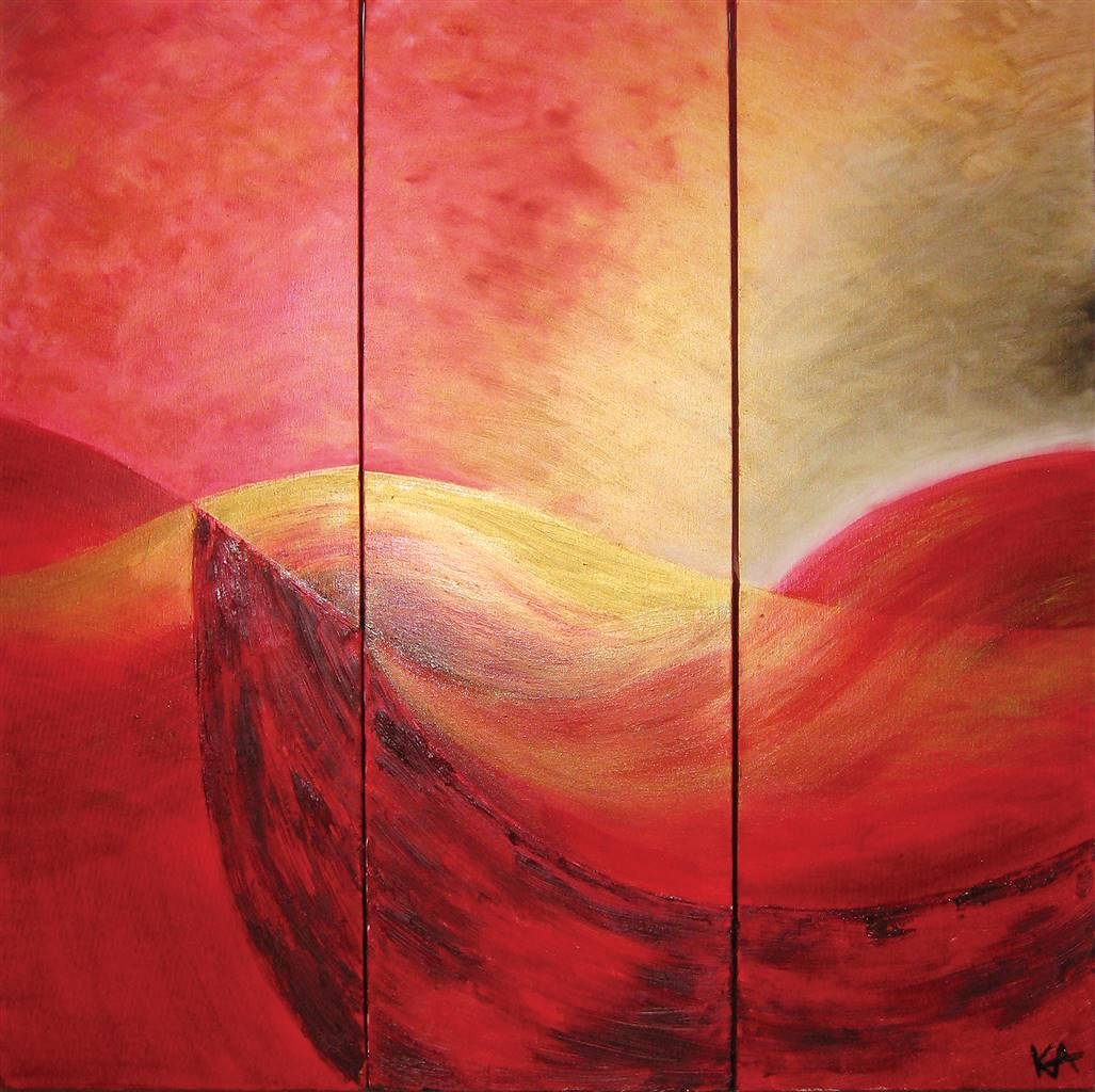 Kristina Arntz, Curves, Oil on Canvas, 30'' x 30'' image