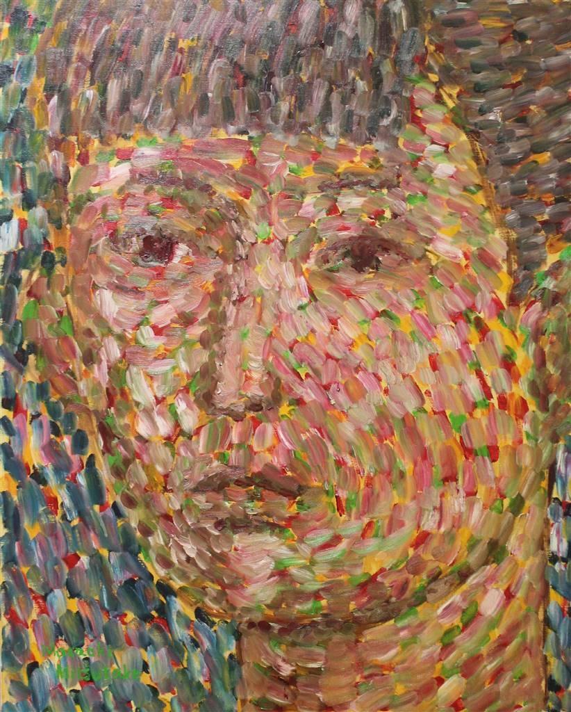 Masaoki Mitsutake, Face No.6, Oil on Canvas, 36'' x 29'' image