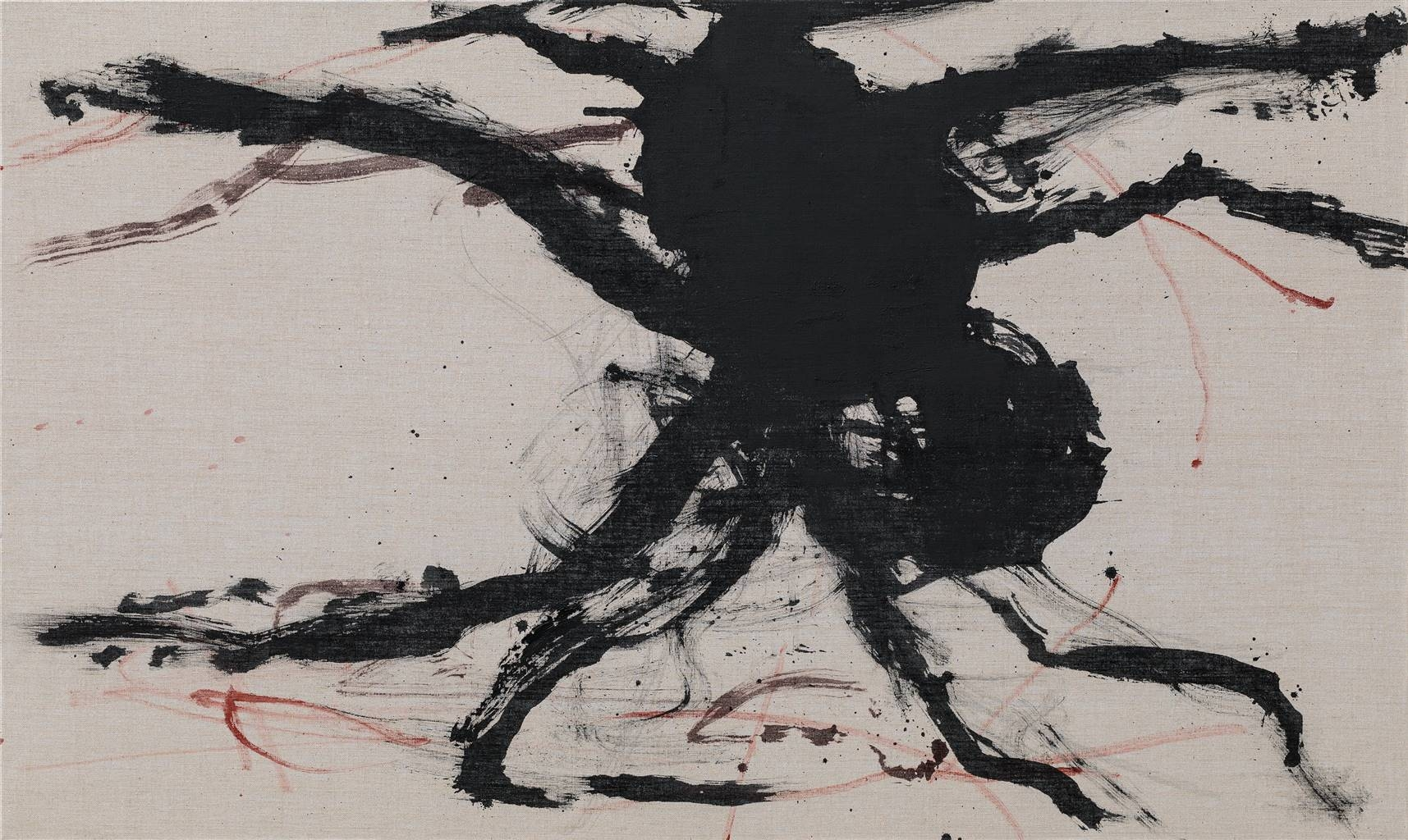 Yeon Soo Kim, Tarantulas-1801, Acrylic & Mixed Media on Canvas, 38.5''x 64'' image