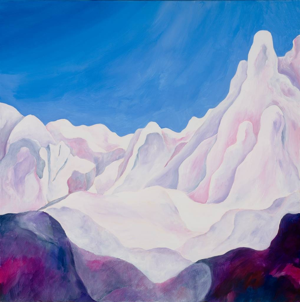 Jerry Anderson, Cappadocia 2 Mystical Landscape, Acrylic on Canvas, 24'' x 24'' image