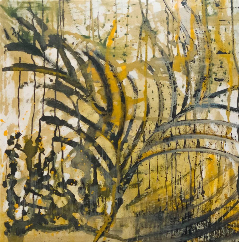 Mariela Soldano, Fall, Acrylic on Canvas, 35.5'' x 35.5'' image