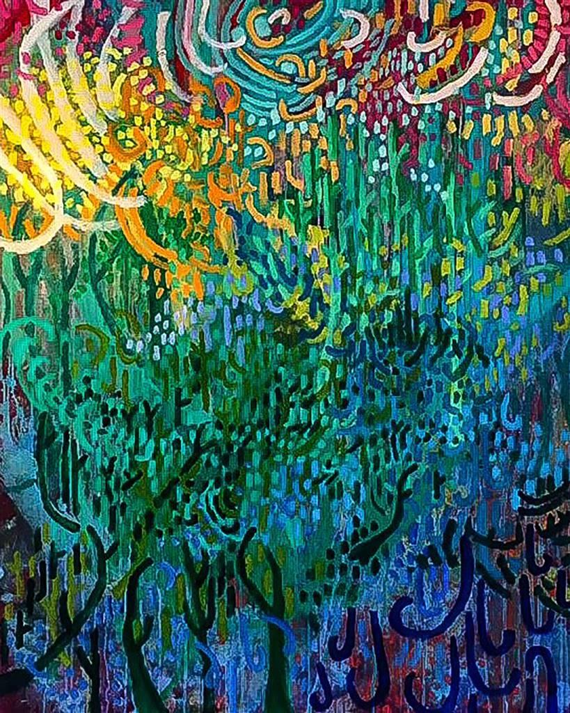 Rachel Misenar, Misty Mountain Top, Acrylic on Canvas, 60'' x 48'' image