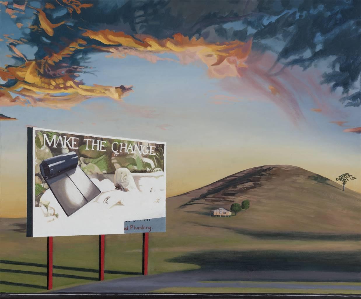 Sandra Guy, Make the Change, Oil on Linen, 19.5'' x 23.5'' image