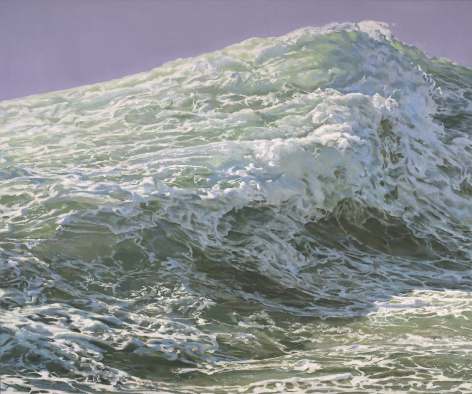 Wave (Mountain), 2019, oil on canvas, 36 x 43 in. image
