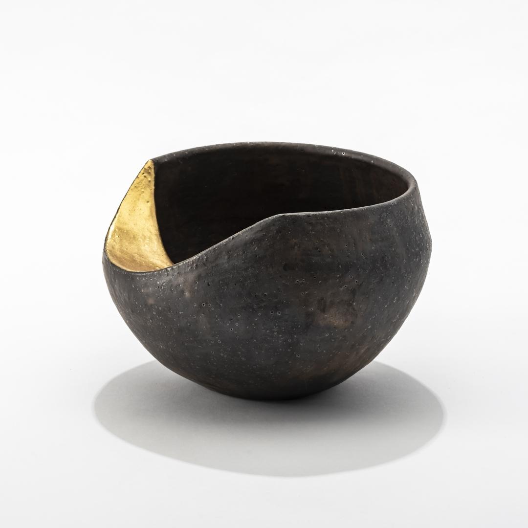 Lunar Phase - gold moon bronze bowl 7 image