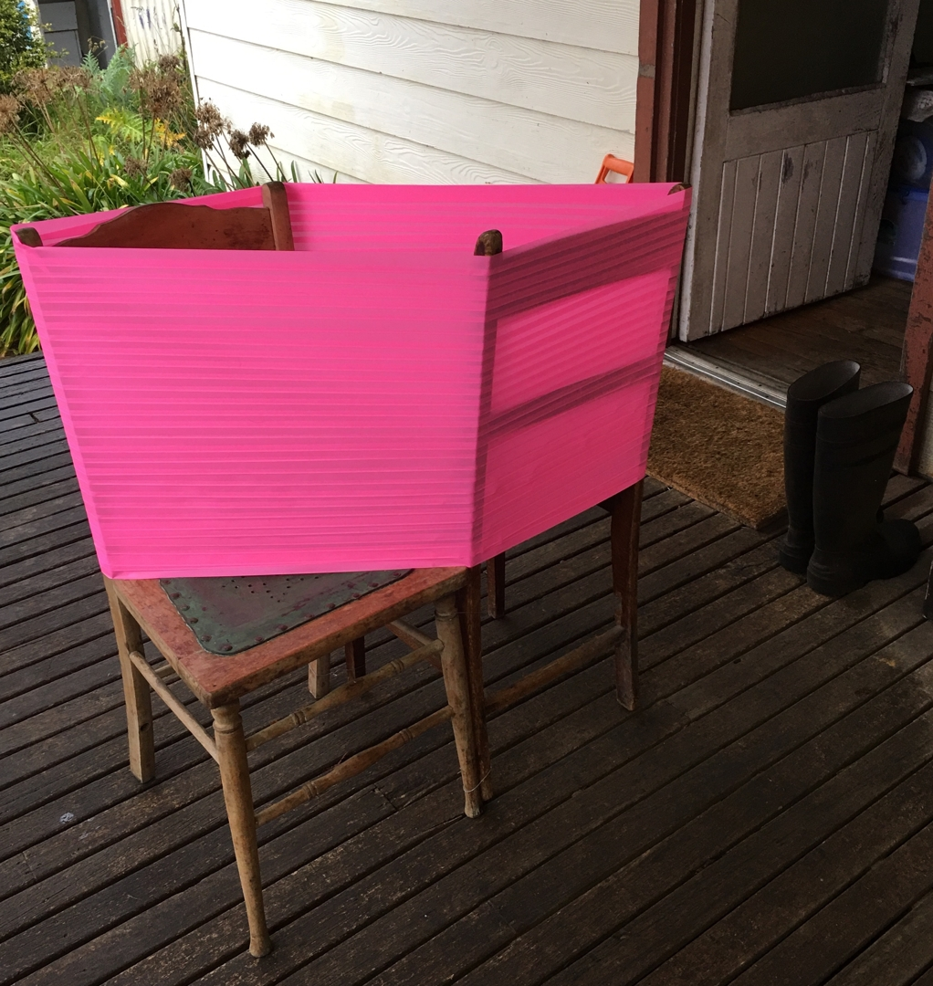 Two Chairs Pink by Mandy Burgess image