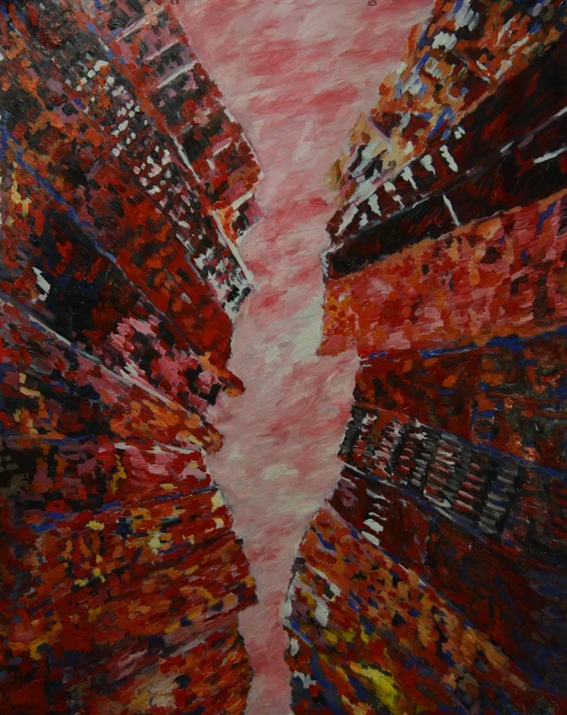 Caspar Baum, New York, 2019, Oil on Canvas, 75'' x 55'' image