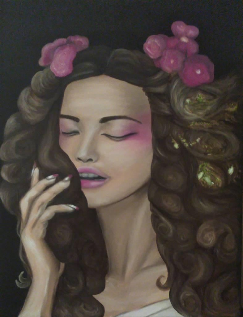 Katha B, Say the Magic Words,Oil on Canvas image