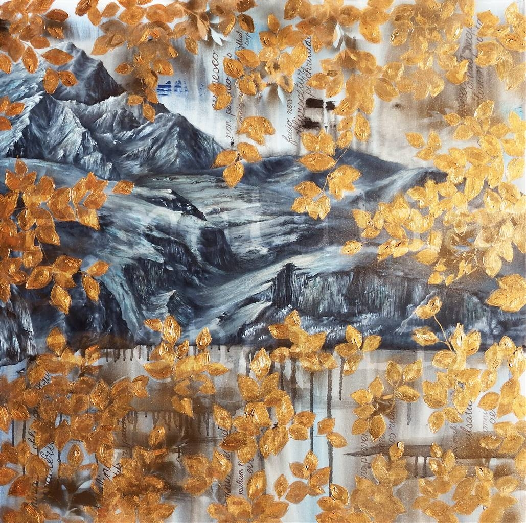 Natalia Chaplin, Turn A Leaf, Oil on Canvas image