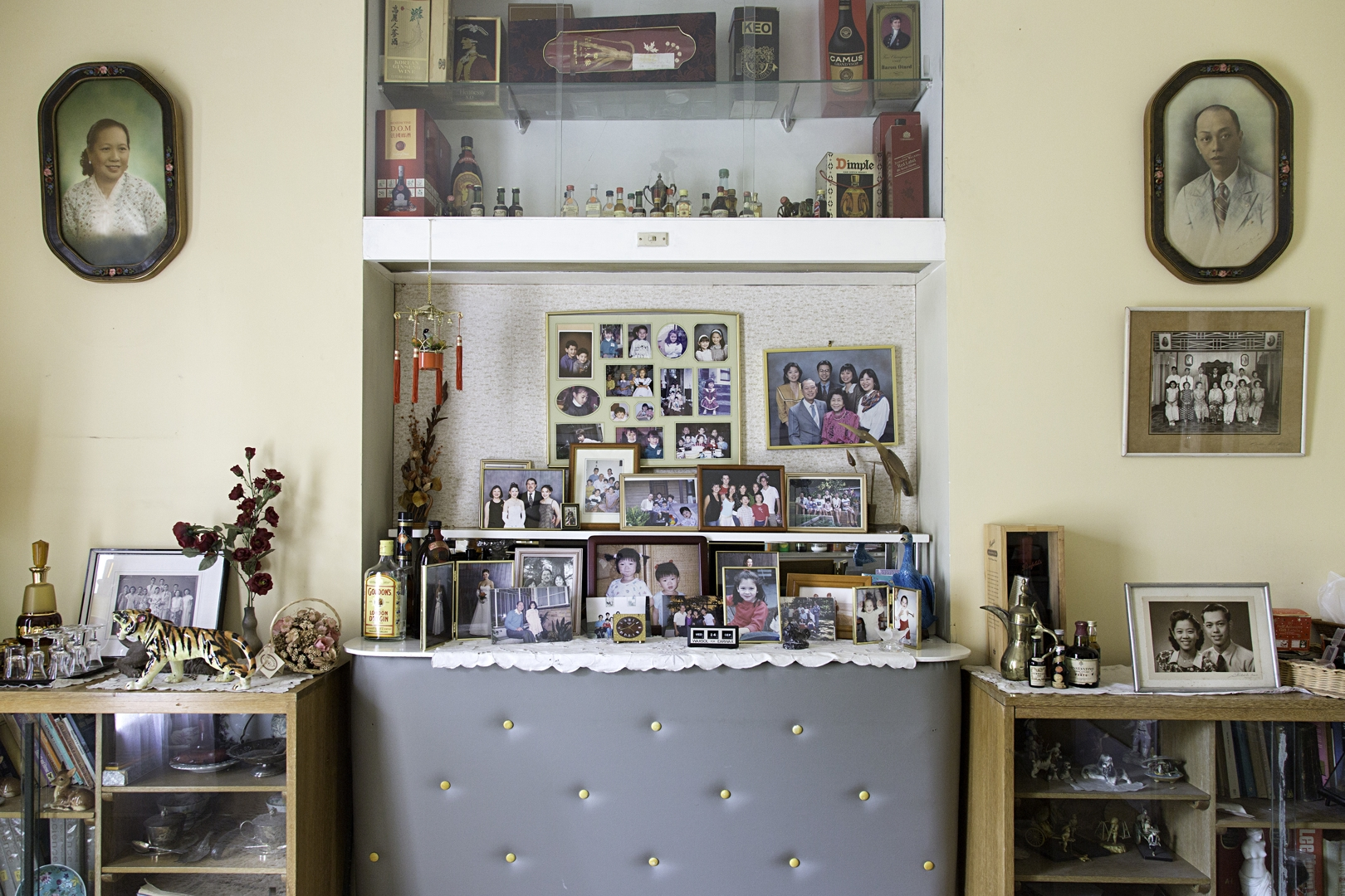 Pia JOHNSON, Family Portrait Wall from Por Por's House series(2014), archival inkjet print, dimensions variable, image courtesy of the artist.  image