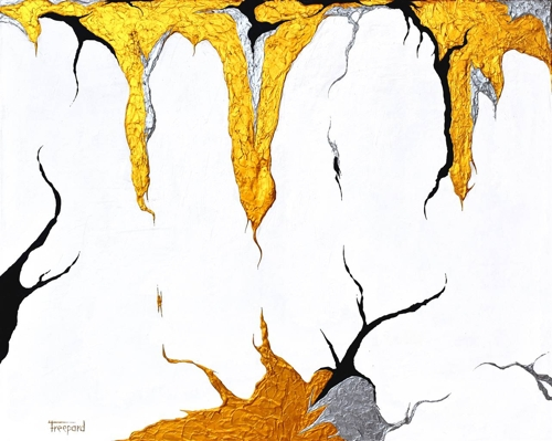 Cristian Freepard, Attraction, Acrylic on Canvas, 23.5 x 29.5 image
