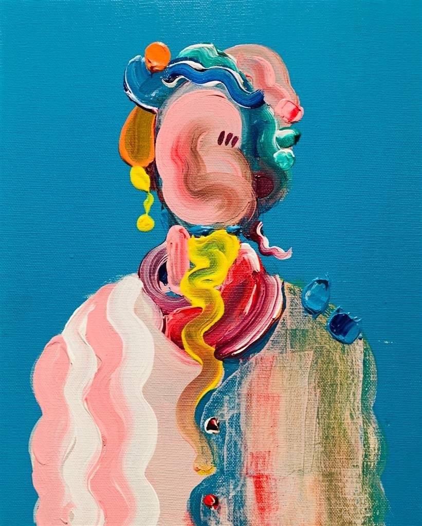 Kazusa Matsuyama, Anonymous Portrait 04-, Acrylic on Canvas, 11 x 8.5 image