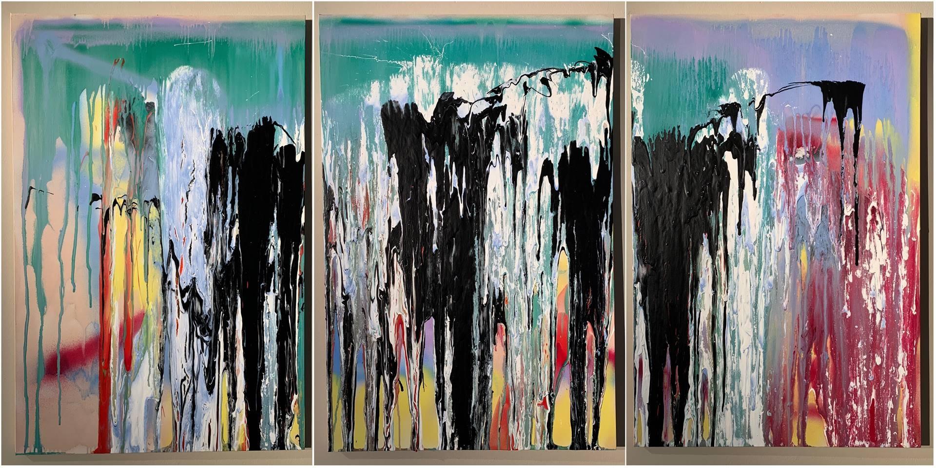 Tyler Santangelo, More Joy, Acrylic & Spraypaint on Canvas, 36 x 72 image