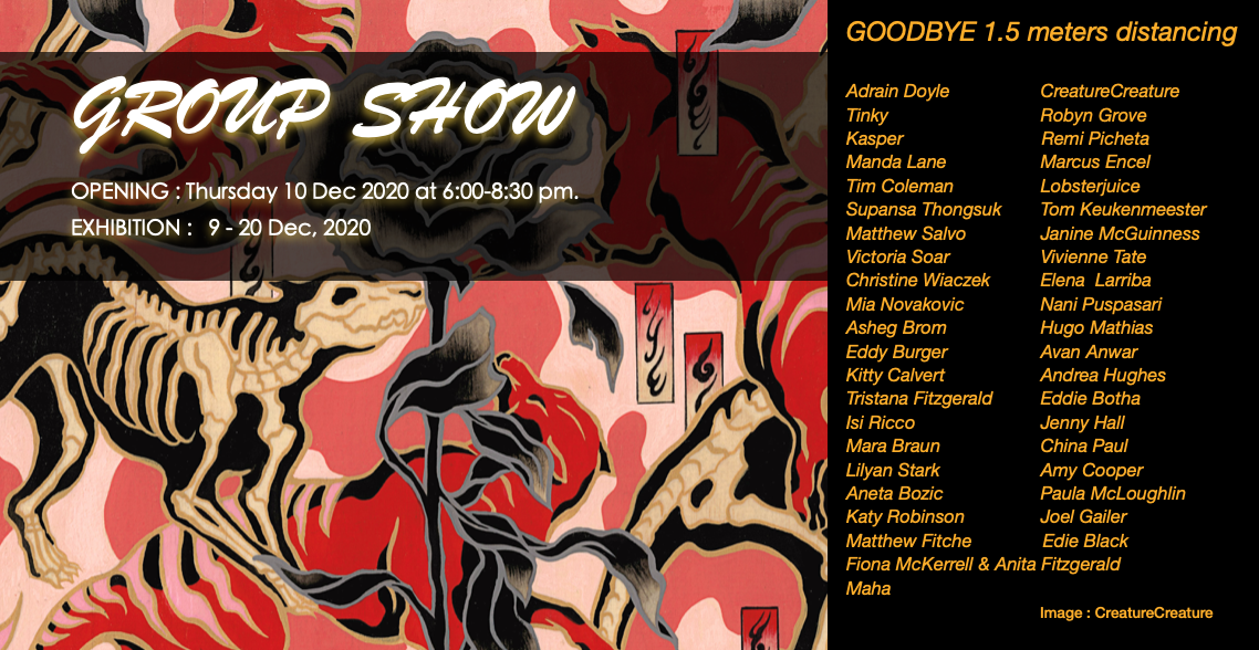 GROUP SHOW : GOODBYE 1.5 meters distancing image