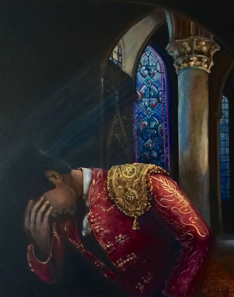 Garese, Torero's Prayer,Oil on Canvas, 32'' x 25.5'' image