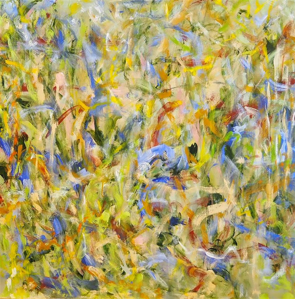 Sari Moilala, The Living Moorland 1,Acrylic on Canvas, 41'' x 41'' image