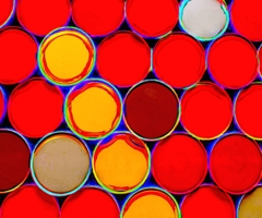 "Howard Harris, Albers Unleashed, 2021 Digital Sublimation Print on Aluminum 30"" x 36"" image"