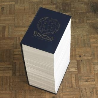 Wikipedia in print image