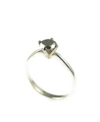 Silver Diamond Ring image