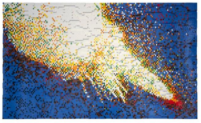 Sean Cordeiro & Claire Healy's lego space shuttle explosions image