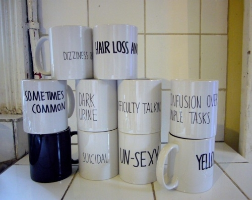 Artist's coffee mugs reflect experiences of the Mentally Ill image