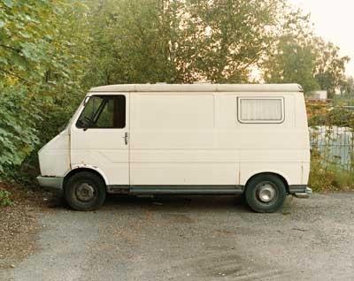 Weißer Fiat-Bus ( White Fiat Van) image
