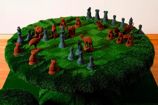 Sebastian Di Mauro Homeland rule 2010 polystyrene, fibreglass, artificial grass image