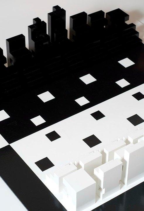 Robert Jacks, Black on Blck, White on White (detail) 2010, acrylic and enamel on timber. image