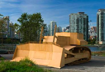 Full-scale Bulldozer made from recycled Olympics Games materials image