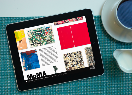 MoMA has a free iPad app, for their Abstract Expressionist exhibition image