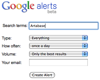How to: setup a free online media monitoring tool using Google Alerts image