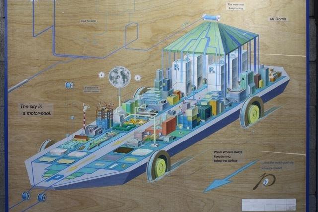 Sweet Japanese Artworks made from Recycled Materials at Aqua Metropolis Osaka festival, Japan image
