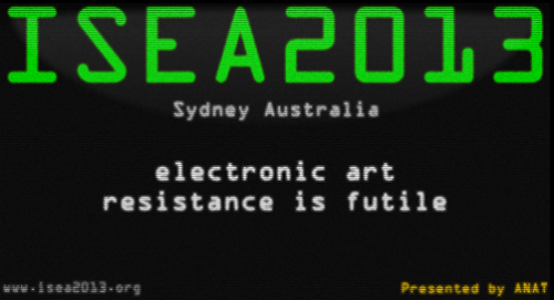 Sydney to host ISEA 2013 image