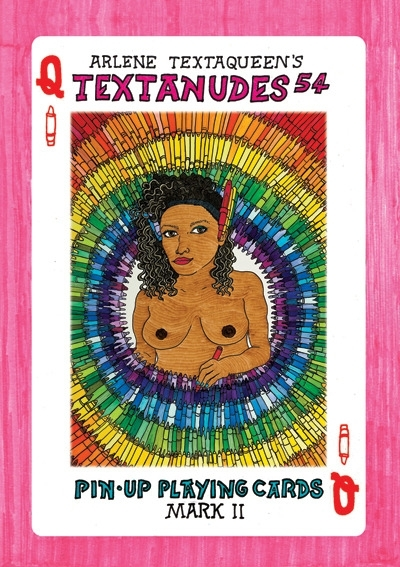 Arlene Textaqueen re-releases her totally collectable nude playing cards image
