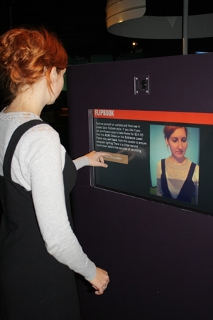 Using the flip book booth at ACMI image