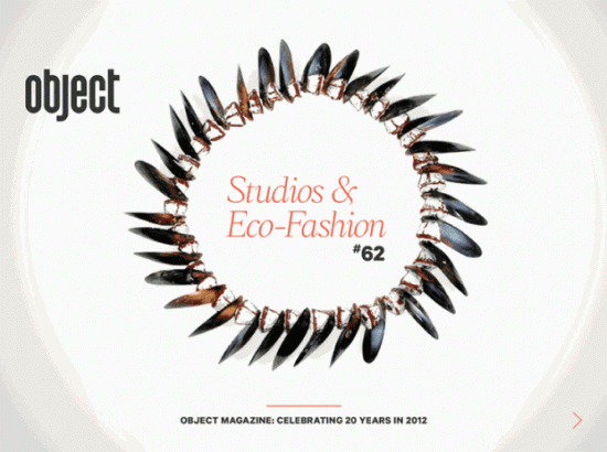 New issue of Object Magazine focuses on Studios and Sustainable Fashion image