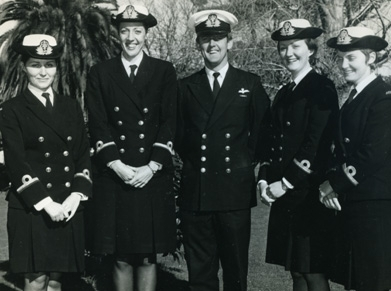 WWII women and men in uniform image