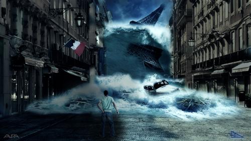 Gorgeous art video of flooded, abandoned Paris image
