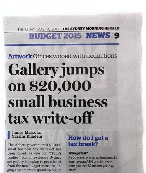 Small Business tax write-off image