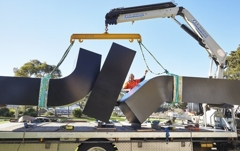 Clement Meadmore Sculpture Restored and Installed image