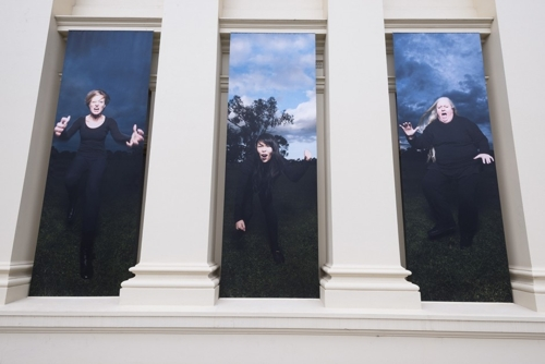 The Furies installation in St Kilda, Melbourne Australia highlights the endemic issue of violence against women image