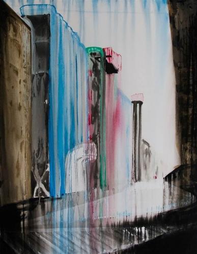 """Claudia Etcheverrito. Pompidou. Acrylic on Canvas. 51""""x39.5"""" image"""