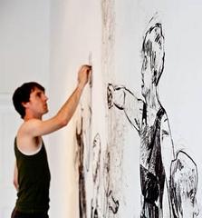 Todd Fuller - Artist in Residence at DRAWinternational in France in 2016 image